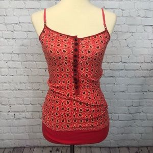 Free People Red Paisley Tank